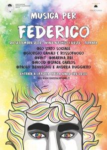 """Locandina """"Musica per Federico 2018"""""""