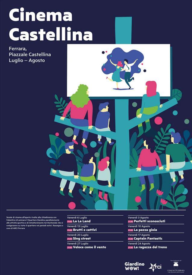 Cinema in piazza castellina con ingresso libero for Giardino wow ferrara