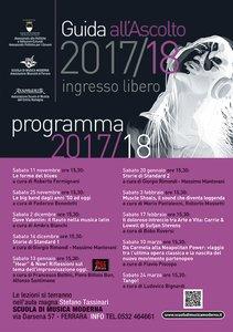 """Programma di """"Guida all'ascolto"""" della Scuola musica moderna di Ferrara novembre 2017-marzo 2018"""