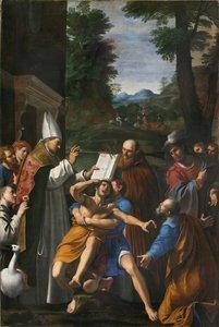 Dipinto in restauro in San Cristoforo