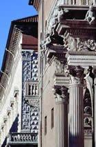 Particolare di Palazzo Prosperi Sacrati e Palazzo dei Diamanti a Ferrara